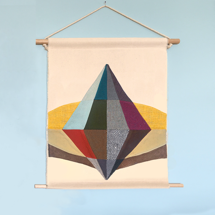 STRATA fabric wall hanging by Saltbush Avenue