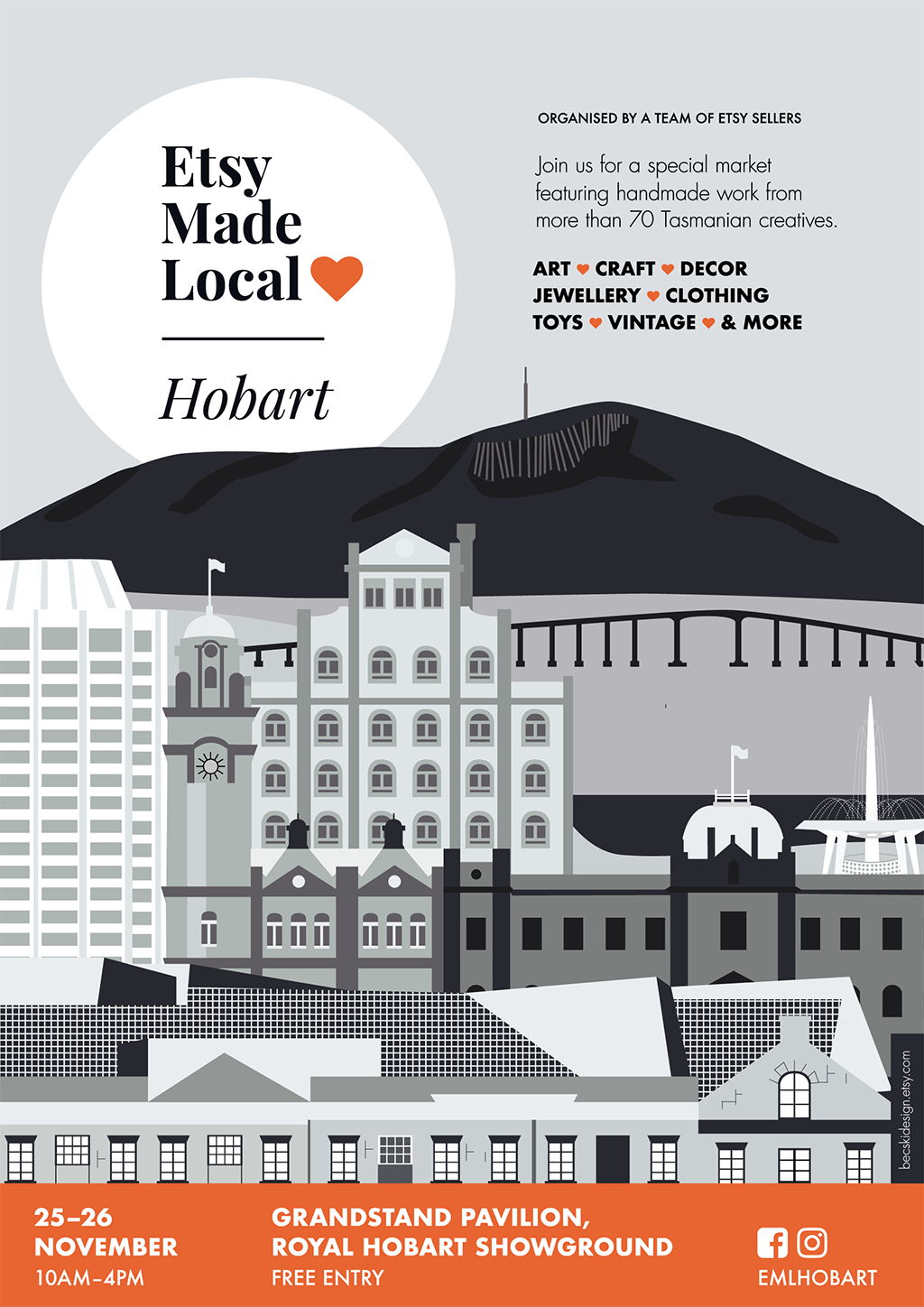 Etsy Made Local Hobart poster