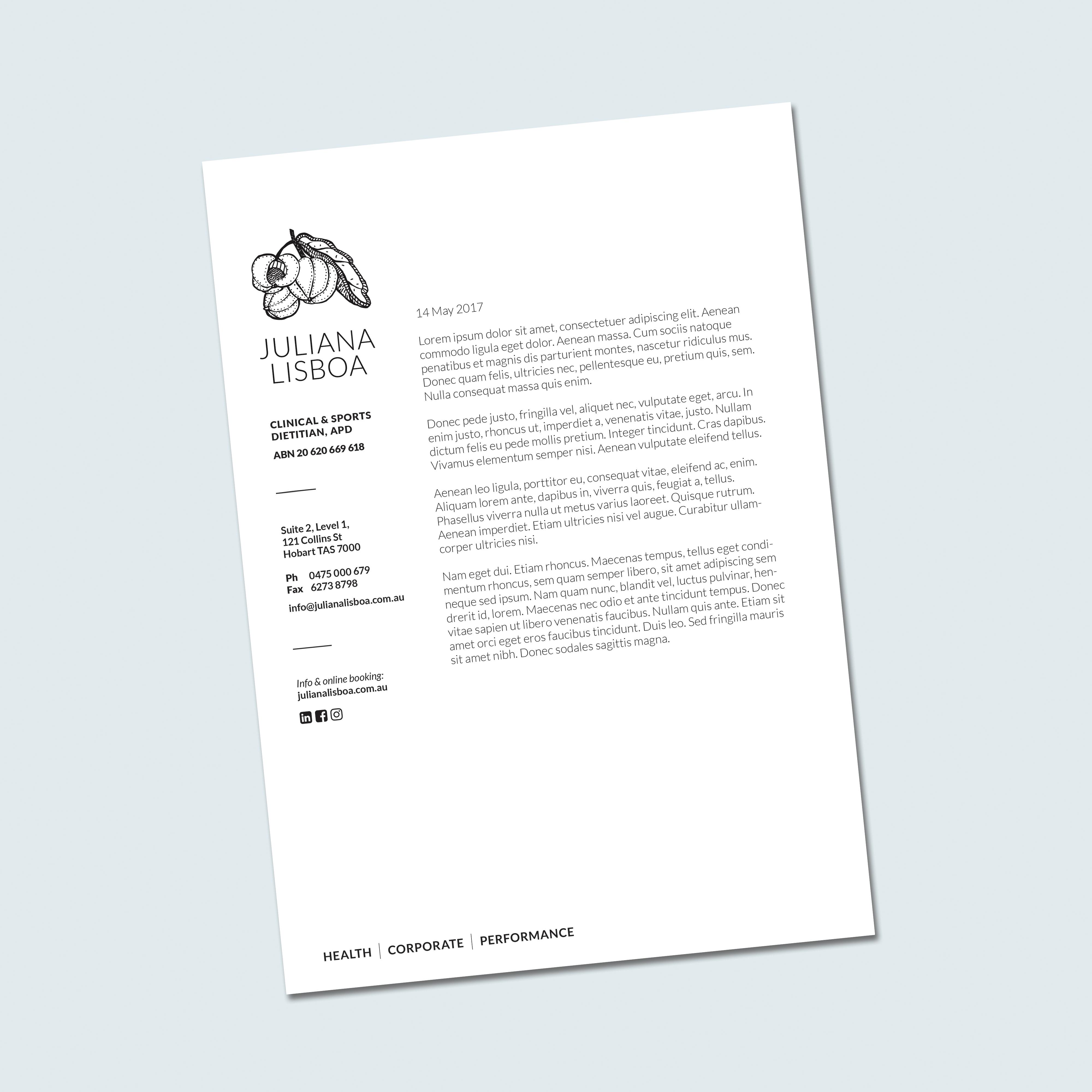 B/W business letterhead
